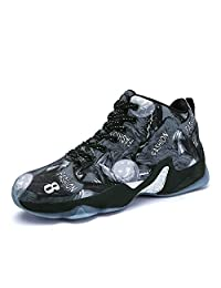 COSDN Womens Mens Fashion Basketball Shoes Performance Shock Absorption Trainer Colourful Sneakers