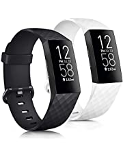 Tobfit Bands Compatible with Fitbit Charge 3 Bands / Fitbit Charge 4 Bands, Classic Sport Accessory Replacement Watch Strap Wristband for Fitbit Charge 3 Special Edition & Fitbit Charge 3 & Fitbit Charge 4 Women Men Large & Small