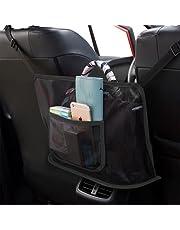 Car Seat Bag Holder Net Pocket Handbag Organiser Between Front Seat Back Organizer Mesh Storage Purse Cellphone Smaller Items