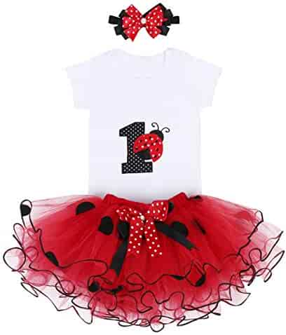 58ce51e723 Baby Girl First Birthday Clothes 1st Crown Romper+Ruffle Tulle Skirt+Bow Headband  3PCS