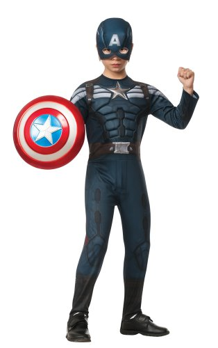 Captain+America Products : Rubies Captain America: The Winter Soldier Deluxe Stealth Suit Costume, Child Medium