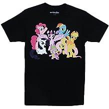 My Little Pony Mane 6 Intro Adult Black T-Shirt