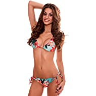 Women's Wavy Triangle Bikini Set Brazilian Swimwear