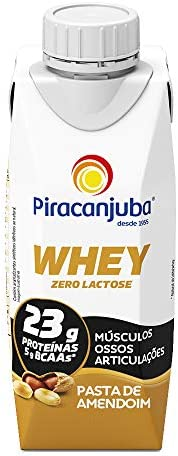 Piracanjuba Whey Zero Lactose Sabor Pasta de Amendoim 250ml