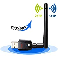 Seojack 600Mbps Dual Band Wireless USB Wifi adapter With 802.11N/G/B Antenna Network Lan Card For Windows XP/10/7/8/8.1/10 (32/64bits)