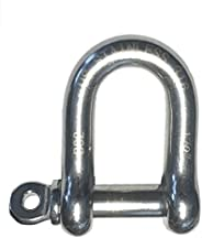 """Stainless Steel 316 Forged D Shackle Marine Grade 1/2"""" Dee ("""