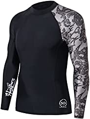 HUGE SPORTS Men's Splice UV Sun Protection UPF 50+ Skins Rash G