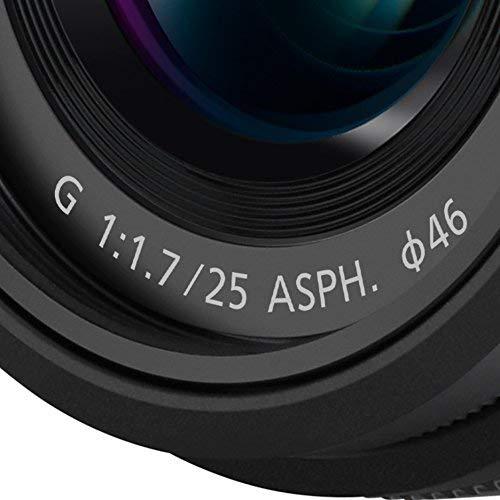 Panasonic Lumix G Lens, 25mm, F1.7 ASPH, Mirrorless Micro Four Thirds, H-H025K (USA Black)