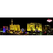 Posters: Las Vegas Poster Art Print - Night Panorama Of The Strip (62 x 21 inches)