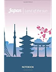 Tokyo Japan Skyline Journal Notebook Souvenir Diary 6x9 inch 100 Ruled Pages: I Love Japan Tokyo Skyline, Kabuki, Manga and Fuji Volcano Mountain , Men's Women's Boys Girls Japanese Journal Quotes Diary Notebook Graphic Design Gifts And Souvenir,