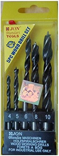Jon Bhandari wood drill bit set of 5 bits ( 4mm, 5mm, 6mm, 8mm, 10mm ) Price & Reviews