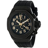 Swiss Legend Men's 10542-BB-01-GA Trimix Diver Chronograph Black Dial Black Silicone Watch