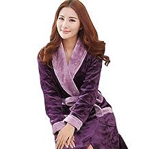 Splendid-Dream Flannel long-sleeved Fleece Robe / Bath Robes for Women
