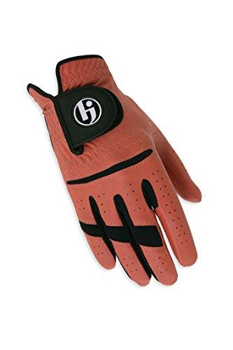 (HJ Glove Men's Worn on Right Hand Gripper II Golf Glove, Medium/Large, Brick)