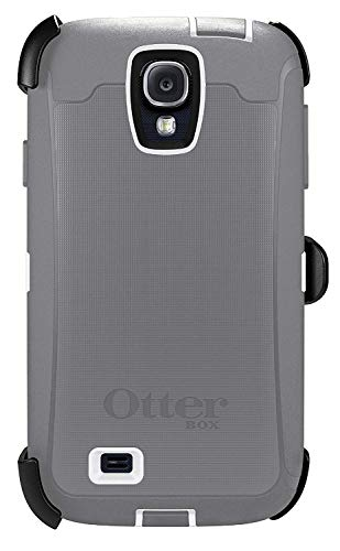 OtterBox Defender Case for Samsung Galaxy S4 with Belt Clip fits OtterBox + Cable - Gray White