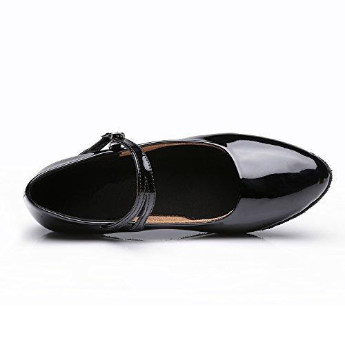 Talons pour Noir Sandales Chaussures Hauts VASHCAMER Femme Danse de qnxwUTCPtH