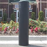 LDPE Polyethylene Cinco Post Bollard Sleeves, Black
