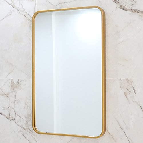 Amazon Com Tmgy Large Gold Mirrors For Wall Decor Ornate Mirror Gold Rectangle Mirror Wall Mounted 27 5 X19 6 Big Metal Frame Wall Mirror Antique Mirror Modern Vanity Mirror For Living Room Bathroom Bedroom Furniture Decor