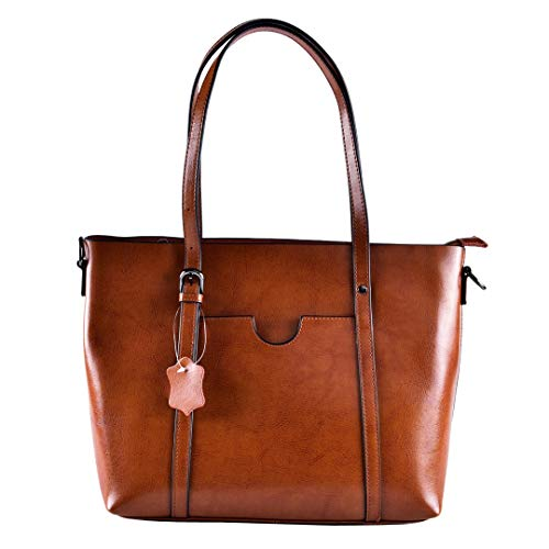 Vintage Cowhide Leather Tote Crossbody Shoulder Bag for - Leather Cowhide Tote