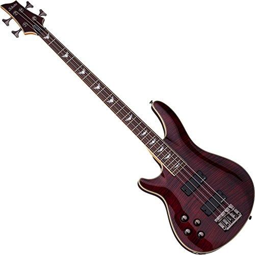 Schecter Omen Extreme-4 Bass Guitar (Black Cherry, Left Handed) ()
