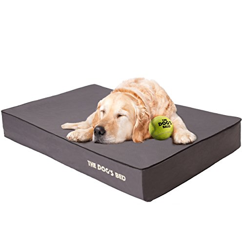 The Dog's Bed, Premium Orthopedic Memory Foam Waterproof Dog Beds, Many Colors/Sizes, Helps Ease Pain of Arthritis & Hip Dysplasia, Therapeutic & Supportive Bed, Washable Quality Oxford Fabric Cover