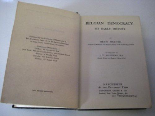 Belgian Democracy: Its Early History