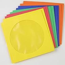 Staples CD/DVD Envelopes Assorted Colors 50 Pack