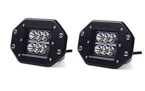 Turbo 2pcs 18W 1260LM Spot Led Work Light Bar For Off-road SUV Boat 4x4WD Jeep Headlight