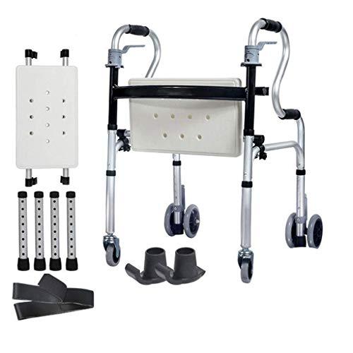 HJW Ayuda para Caminar Ancianos Walker Andador Plegable de ...