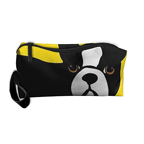 Bulldogs Hanging - D1HQNJ Boston Terrier And French Bulldog Toiletry Bag Multifunction Cosmetic Bag Portable Makeup Pouch Travel Hanging Organizer Bag