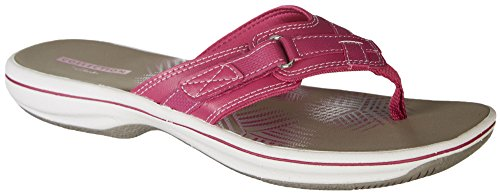 CLARKS Women's Breeze Sea Platform, Magenta Synthetic, 10 Medium US by CLARKS