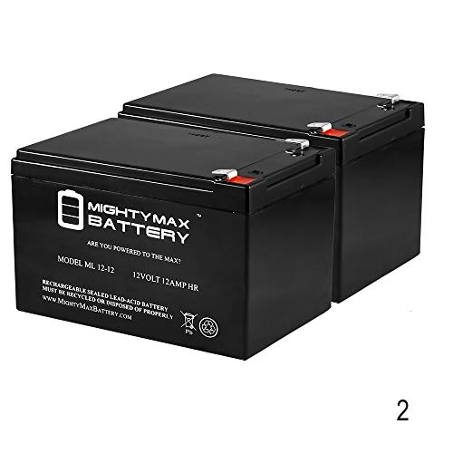 Mighty Max Battery ML12-12 - 12V 12AH F2 SLA AGM DEEP-CYCLE