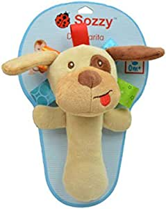 Sozzy baby hand bell plush toy- high-quality smooth fabric