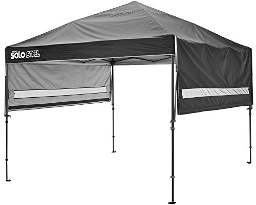 OpenBox Quik Shade Solo Steel 90 11x11 Instant Canopy, Black