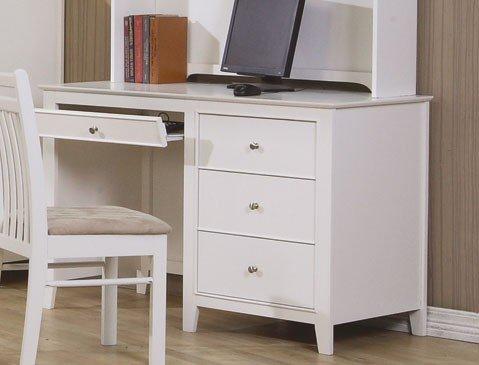 Computer Desk Cape Cod Style in White Finish