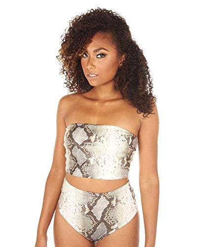 (iHeartRaves Wild Card Snakeskin Bandeau Tube Top (2X))