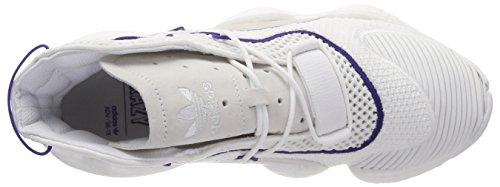 adidas Crazy Byw, Scarpe da Ginnastica Basse Uomo Bianco (Footwear White/Footwear White/Real Purple 0)