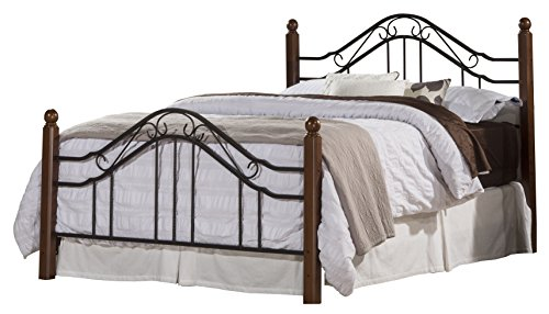 Hillsdale Furniture 1010BKR Madison Bed Set with Rails, King, Textured Black -