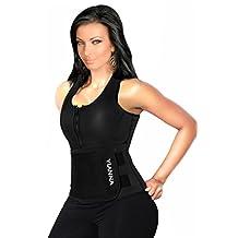 YIANNA Neoprene Sauna Suit - Sauna Tank Top Vest with Adjustable Shaper Trainer Belt
