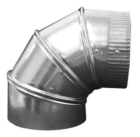 Galvanized Steel Reducer, 14'' x 10'' Duct Fitting Diameter, 8'' Duct Fitting Length