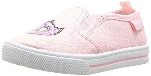 OshKosh B'Gosh Kids' Donuts Girl's Embroidered Slip-On Loafer Flat