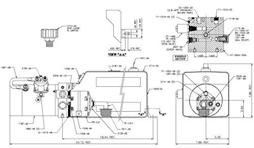 Spx Hydraulic Power Unit 12v Dc Single Acting 1 4 Gpm
