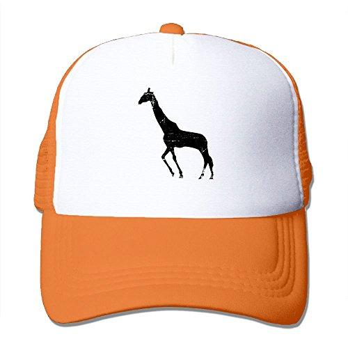 G5dv Cap Giraffes Cartoon Outdoors Trucker Hats Classic Adjustable Baseball Mesh Back (Running Giraffe)