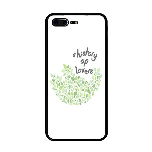 The Mass Plus iPhone 8 Plus Case, iPhone 7 Plus Case, Tempered Glass Case with Custom Designs Back and Shockproof Bumper Cover for iPhone 7/8 Plus (A History of Lovers)
