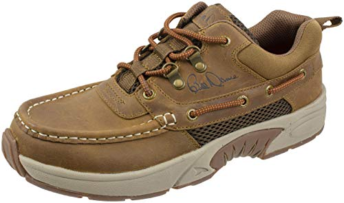 (Rugged Shark Bill Dance Pro Fishing Boat Shoe, Sport Model Fishing and Outdoors, Men's 12 US, Width: Medium, Brown)