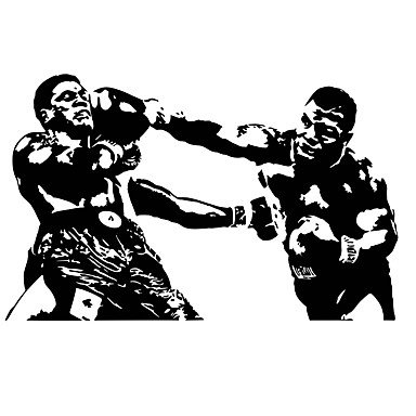 XGHC Tyson Boxing Champion Wall Stickers Famous Sports Star Athlete Figure Wall Decals Home Decor For Baby Kids Room Living Room , - Tyson Corner Stores