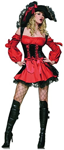 [Vixen Pirate Wench Costume - Small - Dress Size 4-6] (Wench Womens Costumes)
