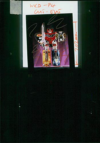 Vintage photo of Mighty Morphin Power Rangers: Megazord.]()