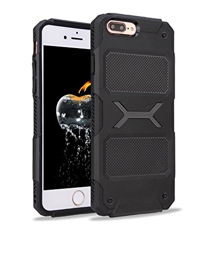 iPhone 7 Plus / iPhone 8 Plus Case, Elove [AirDrop Series] [Flexible] Shockproof Protective Rubberized TPU Back Case Cover for Apple iPhone 7 Plus (2016) / iPhone 8 Plus (2017) – Black
