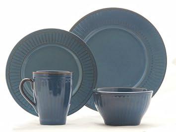 Coventry Athena Denim Blue 16-piece Dinnerware Set Service for 4  sc 1 st  Amazon.ca & Coventry Athena Denim Blue 16-piece Dinnerware Set Service for 4 ...
